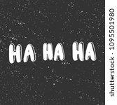 ha ha ha. sticker for social... | Shutterstock .eps vector #1095501980