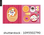 simple things   meal   flat... | Shutterstock .eps vector #1095502790