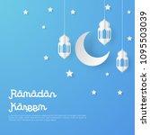 ramadan kareem design... | Shutterstock .eps vector #1095503039