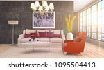 interior living room. 3d... | Shutterstock . vector #1095504413