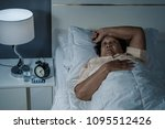 old woman suffering from... | Shutterstock . vector #1095512426