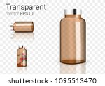 mock up realistic amber glass... | Shutterstock .eps vector #1095513470