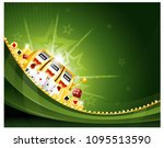casino slot machine background | Shutterstock .eps vector #1095513590