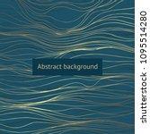 dark green background with... | Shutterstock .eps vector #1095514280