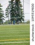 Small photo of Football Field 10 Yard line Goal Post