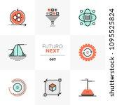 modern flat icons set of data...   Shutterstock .eps vector #1095525824
