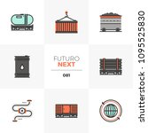 modern flat icons set of fossil ...   Shutterstock .eps vector #1095525830