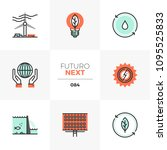 modern flat icons set of... | Shutterstock .eps vector #1095525833
