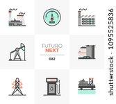 modern flat icons set of... | Shutterstock .eps vector #1095525836