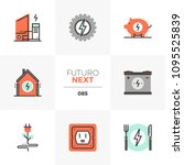 modern flat icons set of home... | Shutterstock .eps vector #1095525839
