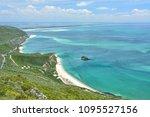 coast view of atlantic ocean in ... | Shutterstock . vector #1095527156