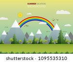 abstract of wide summer view in ...   Shutterstock .eps vector #1095535310