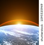 planet earth from the space...   Shutterstock . vector #1095535949