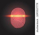 finger print scanning... | Shutterstock .eps vector #1095537779