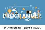 programmer concept illustration.... | Shutterstock .eps vector #1095545390