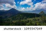 landscape view of volcano mount ... | Shutterstock . vector #1095547049