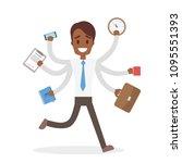 businessman running in hurry... | Shutterstock .eps vector #1095551393