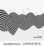 black and white design. pattern ... | Shutterstock .eps vector #1095557870