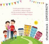 vector illustration of happy... | Shutterstock .eps vector #1095559079