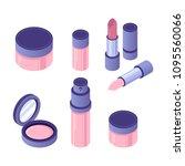 vector isometric cosmetics... | Shutterstock .eps vector #1095560066