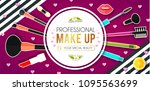 make up paper art background.... | Shutterstock .eps vector #1095563699