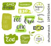 healthy food icons  labels.... | Shutterstock .eps vector #1095564044
