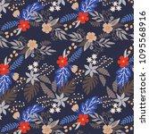 floral pattern. vector...   Shutterstock .eps vector #1095568916