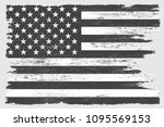 grunge american flag.black and... | Shutterstock .eps vector #1095569153