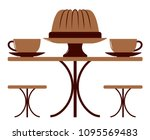 Vector Table With Coffee Cups...