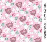 floral pattern. vector... | Shutterstock .eps vector #1095569786