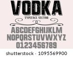 vintage font typeface...   Shutterstock .eps vector #1095569900