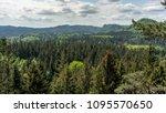 view into the saxon switzerland ... | Shutterstock . vector #1095570650