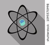 human head and icon of science. ... | Shutterstock .eps vector #1095570998