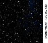 Dark Nebula Sky With White Stars