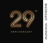 29 years anniversary... | Shutterstock .eps vector #1095582548