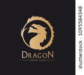 dragon logo template | Shutterstock .eps vector #1095584348