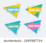 collection of sale discount... | Shutterstock .eps vector #1095587714