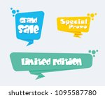 collection of sale discount... | Shutterstock .eps vector #1095587780