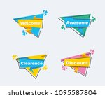 collection of sale discount... | Shutterstock .eps vector #1095587804