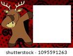 dab dabbing pose deer kid... | Shutterstock .eps vector #1095591263