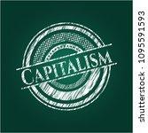 capitalism written on a... | Shutterstock .eps vector #1095591593