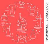 chemistry scientific  education ... | Shutterstock .eps vector #1095594770