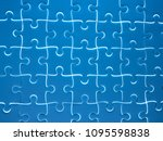 jigsaw puzzle pieces completed... | Shutterstock . vector #1095598838