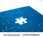 missing jigsaw puzzle piece... | Shutterstock . vector #1095598844