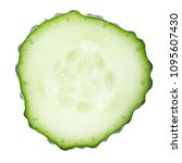 slices of fresh cucumber slices ... | Shutterstock . vector #1095607430