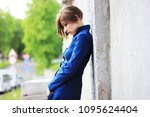 emotional young woman. sad girl....   Shutterstock . vector #1095624404
