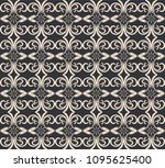 seamless damask pattern.... | Shutterstock .eps vector #1095625400