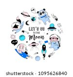 outer space concept... | Shutterstock .eps vector #1095626840