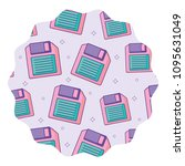 diskette pattern design | Shutterstock .eps vector #1095631049