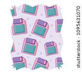 diskette pattern design | Shutterstock .eps vector #1095631070